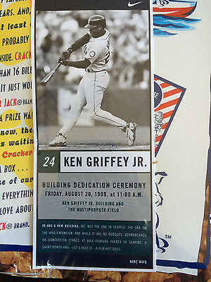 Nike WHQ Building Dedication Collectors Ken Griffey Jr Card in Cracker Jack box