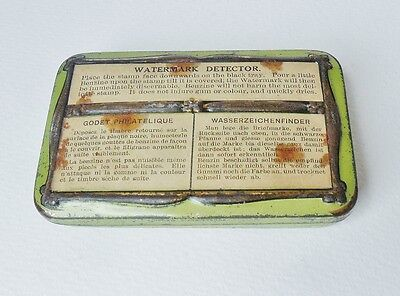 Watermark Detector Tin with Tray Vintage Instructions English French German.
