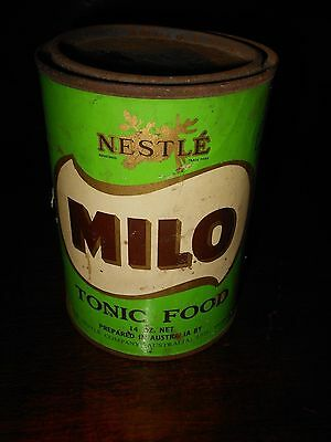 Old early vintage milo tin can old 14 oz