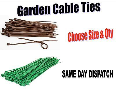 Garden Green Or Brown Cable Ties 4 Inches To 14 Inches Cable Tidy