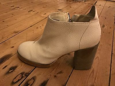 Cheap Monday White Heeled Boots Women's Size 40