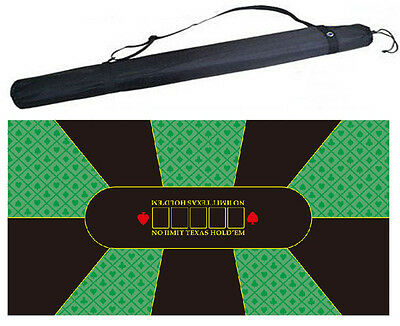 NEW Rubber Texas Hold'em Poker Board Felt layout Table cloth with Bag 180*90cm