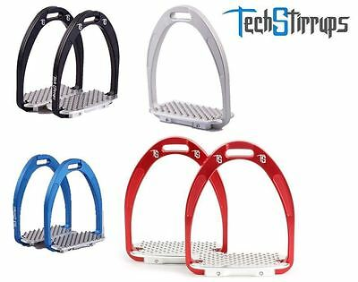 New Tech Athena 'Young Jump' Stirrup Irons - Blue / Silver