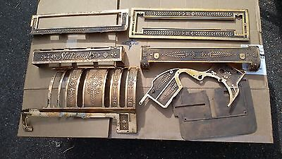 Antique National Cash Register Brass Parts  NCR, many pictures, many parts