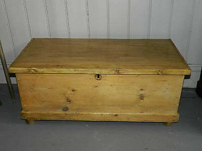 Victorian Pine Blanket Box Chest Trunk Coffee Table