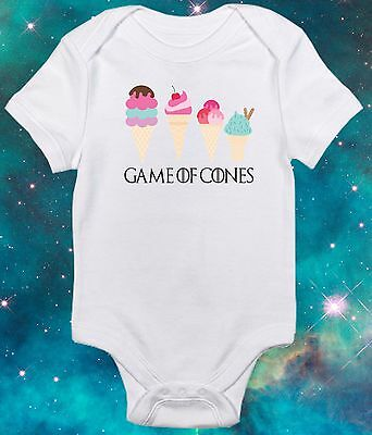 Game of Cones-Funny Nerd - Game of Thrones inspired baby clothes - Baby Gift