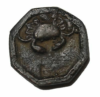 Early Siam Siamese Crab Design Metal Gambling Token Late 18th Century