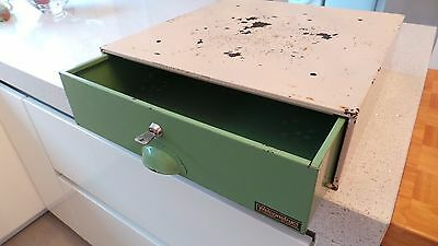 Vintage Welconstruct Under Counter Steel Security Drawer - Safe - Cash Drawer -
