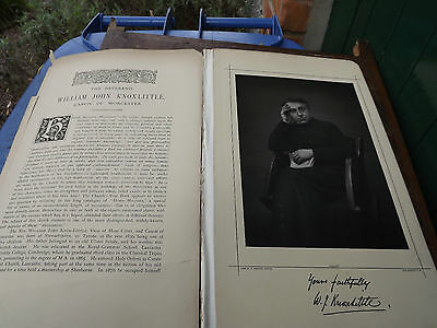 Original Victorian Photo & Bio of William John Knox-Little Canon of Worcester