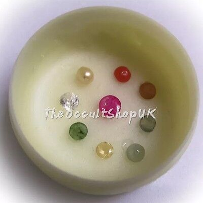 9 Gemstone Sapphire Pearl Coral Emerald Ruby Magical Talisman Witch Wicca Pagan