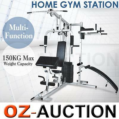 Home Gym Multi Station Fitness Exercise Equipment Dumbbell Weight Bench Sit Up