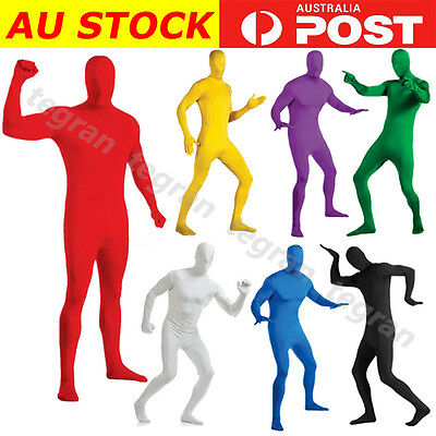 Adult Men Women Spandex Full Body Suit Costume Zentai Morph Invisible Halloween
