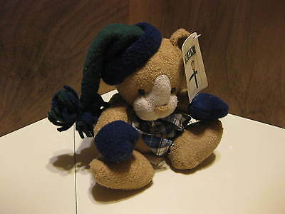 """First & Main Jolly Fellows Plush 8"""" Lion With Hat & Tag"""