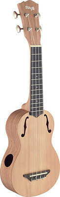 Traditional soprano ukulele with solid cedar top