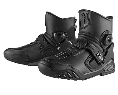 "ICON ACCELERANT Mid-Rise Leather Motorcycle Boots SIZE: ""9, 9.5"""