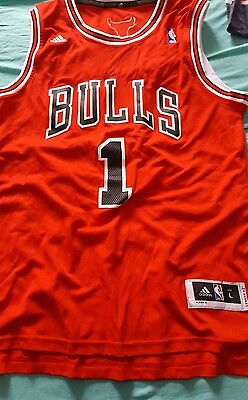 maillot NBA CHICAGO BULLS swingman ADIDAS  taille L ROSE 1