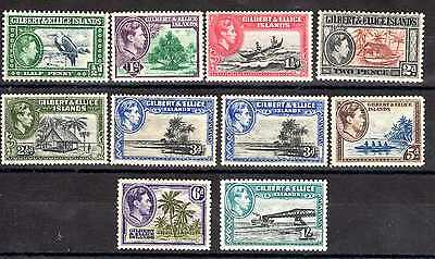 Gilbert & Ellice Kgvi 1939-55 Part Set To 1/- M/mint & Lightly M/mint