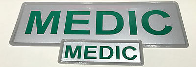 MEDIC REFLECTIVE BADGE PACK - MID 250mm x 100mm / small 135mm x 45mm