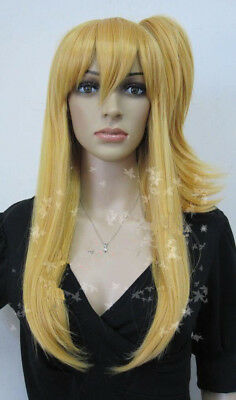 New Cosplay Fairy Tail Lucy Heartfilia Yellow cosplay party full wig