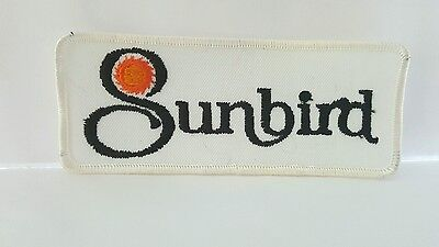 Advertising Sunbird Color Cloth Patch 5 x 2 inches