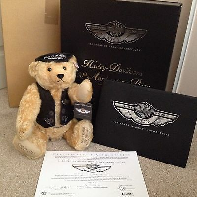 *NEW* STEIFF Harley Davidson 100th Anniversary Bear Limited Edition