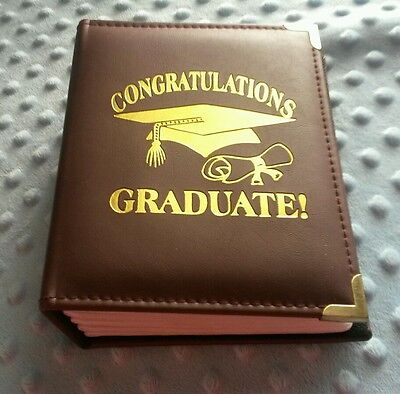Graduation Photo Album 4x6 Black Red Holds 100 pictures