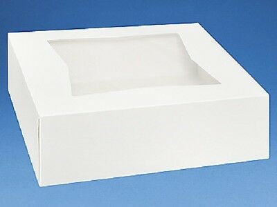 25 count Bakery / Cake Box 6x6x3 White with Window