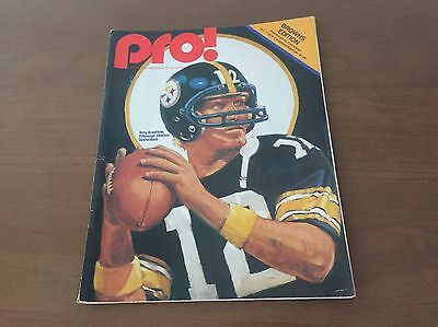 Pro! Pittsburgh Steelers Vs Cleveland Browns Oct 7 1979 Game Program T Bradshaw
