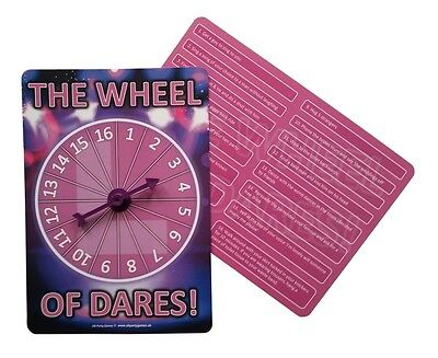 Hen Night Party Games: includes 16 dares  .  THE WHEEL OF DARES