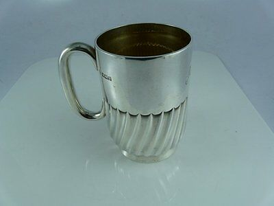 Fine Sterling Silver Mug / Tankard / Cann Sheffield William Hutton & Sons Exclnt