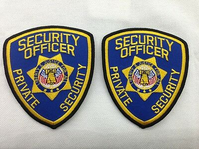 2 Security OFFICER Private Security  Shoulder Patch