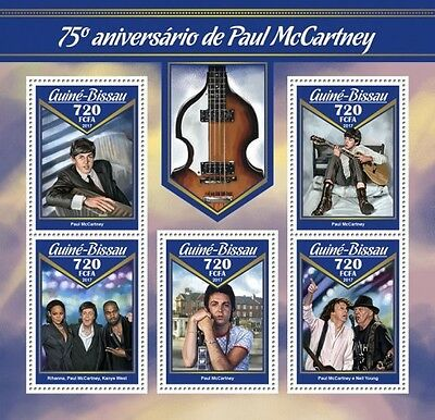 Z08 GB17007a GUINEA BISSAU 2017 James Paul McCartney MNH ** Postfrisch