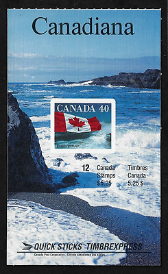 Canada Stamps -Booklet Pane of 12 -Flag over Seacoast #1193a (BK127) MNH