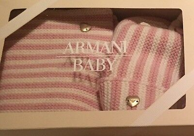 Armani Baby Hat and Scarf set RRP £110