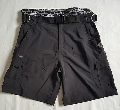 Old Harbor Outfitters Storm Technical Shorts Mens Black Size 40 Fishing Fighting