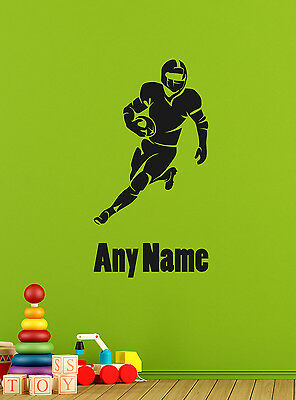 Personalised Football Player Vinyl Wall Sticker Home Mural Decor Room Decal Art