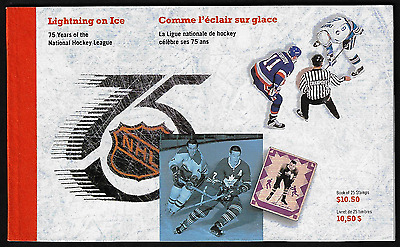 Canada — Booklet 3 Panes in cover — National Hockey League #1443a-5a (BK148) MNH