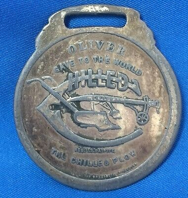 Antique Original OLIVER CHILLED PLOW Farm Advertising WATCH FOB