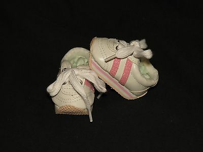 Shoes To Fit The Galoob Baby Face American Girl Doll Pink Tennis Mini Sketz