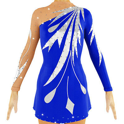 competition ice figure skating dress baton twirling costume