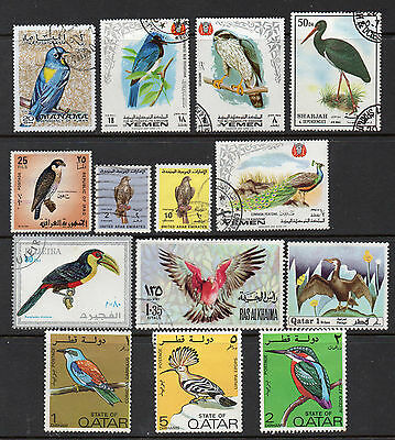 Middle East: A Very Nice Used Selection of 14-Bird Issues