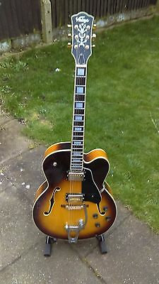 Vintage Semi Acoustic Rockabilly Guitar with Bigsby Like Gretsch