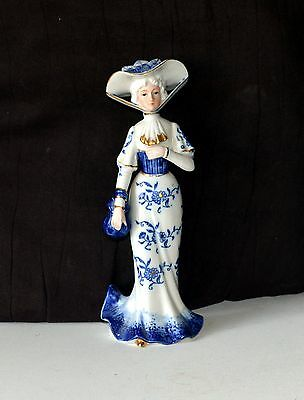 Lady in blue with the hat, Price reduce from$17 to $9.09