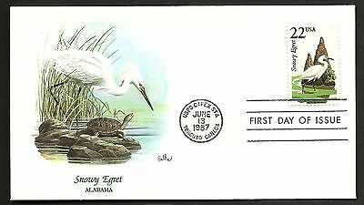 """US 1987 FDC Collection """" Wildlife of the 50 States"""" Alabama - Snowy Egret"""