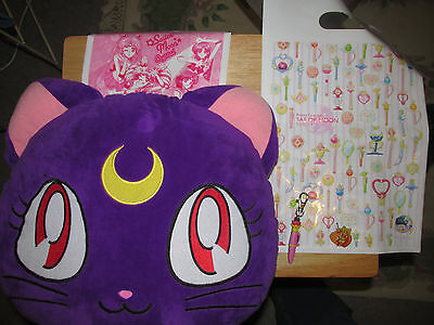 Sailor Moon Lot - Pin Pillow Keychain Plastic Bags