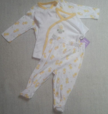 New baby boys girls Carter's 3pc set outfit rubber duckie ducks layette 3 Months