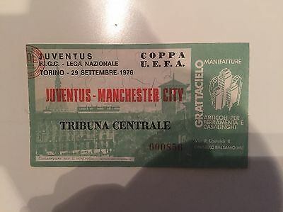 Juventus V Manchester Man City Ticket 1976/7 Uefa Cup