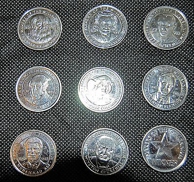 8 Makers of the Millenium coins