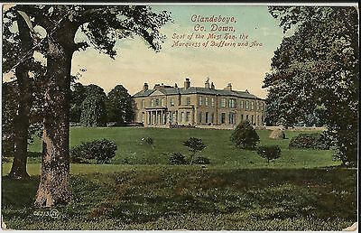 Clandeboye stately home, County Down, N Ireland, on 1903 coloured photo postcard