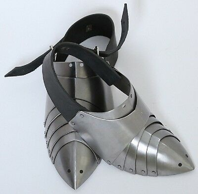 Sabatons hardened spring steel SCA/HMB/IMCF medieval combat knight foot armor
